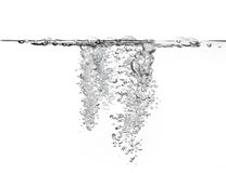 Large amount of air bubbles in water royalty free stock images