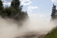 Dust road stock photography