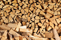 Firewood. A large amount of firewood Royalty Free Stock Photos