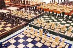 Chess Boards For Sale at Mauerpark Flea Sunday Flea Market Royalty Free Stock Image