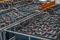 Large amount of power supplies Stock Photo