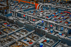 Large amount of power supplies Royalty Free Stock Photography