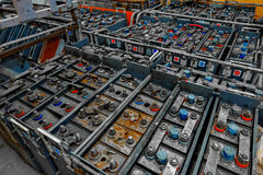 Large amount of power supplies Royalty Free Stock Photos