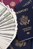 Cash & Passports Royalty Free Stock Photography