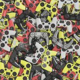 Large amount of video game controller. 3d rendering stock photo