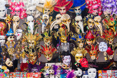 Large amounts of Venetian Masks Royalty Free Stock Images