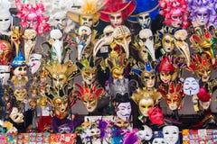 Large amounts of Venetian Masks royalty free stock images