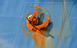 Large anchor on board  ship Royalty Free Stock Photo
