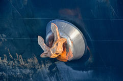 Large anchor on board  ship Royalty Free Stock Photos