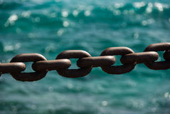 Large anchor chain Stock Photography