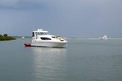Large Anchored Yacht Royalty Free Stock Image