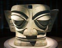 Large Ancient Bronze Mask Statue China Royalty Free Stock Photo
