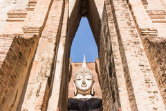 Large ancient Buddha image (UNESCO World Heritage Site) Royalty Free Stock Photo