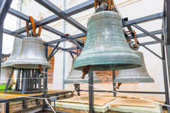 Large ancient church bells. In the museum Stock Photography