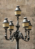 Large ancient lamppost Stock Images