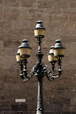 Large ancient lamppost Stock Photography