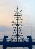 Large antenna on  ship Royalty Free Stock Photography