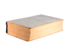 Large Antique book. Isolated on white Royalty Free Stock Photo