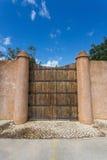 Large antique heavy gates. Royalty Free Stock Photos