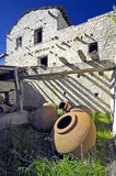 Large antique pots in the mountains of cyprus Stock Photos