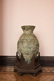Large antique vase. Vase large leaves for decoration Royalty Free Stock Photos