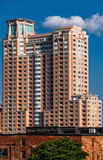 Large apartment building, seen from Federal Hill in Baltimore, M Stock Image