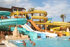 Large aqua park Royalty Free Stock Images