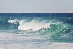 Large aquamarine wave close up Royalty Free Stock Images