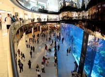 Duabi mall royalty free stock photography