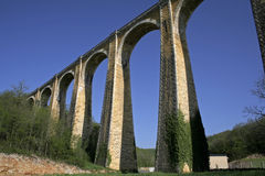 Large arch railway bridge Stock Photo