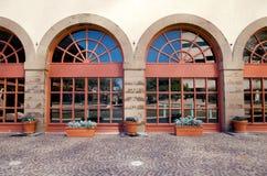 Large arched veranda Stock Image
