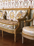 Large armchair at Versailles Palace, France Royalty Free Stock Photography