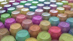 Large Array of Vibrant Pastel Soda Cans vector illustration