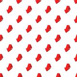Large arrow shows down pattern, cartoon style Royalty Free Stock Images