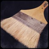Large artists paint brush. Paint brush for art work Royalty Free Stock Photography