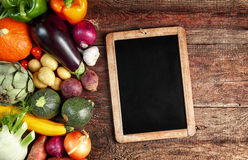 Large assortment of fresh autumn vegetables Stock Photos