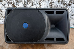 Large audio speaker royalty free stock photography