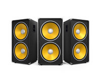 Large Audio Speakers Royalty Free Stock Photography