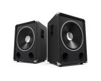 Large Audio Speakers Stock Photography