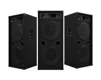 Large Audio Speakers. Isolated on white background. 3D render stock illustration
