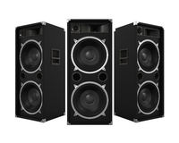 Large Audio Speakers. Isolated on white background. 3D render Royalty Free Stock Photography