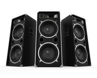 Large Audio Speakers Stock Images