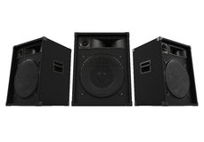 Large Audio Speakers. Isolated on white background. 3D render royalty free illustration