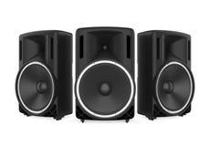 Large Audio Speakers Isolated. On white background. 3D render stock illustration