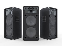 Large Audio Speakers  on White Background Royalty Free Stock Image
