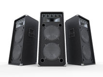Large Audio Speakers  on White Background Royalty Free Stock Photos