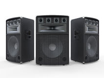 Large Audio Speakers  on White Background. 3d render Royalty Free Stock Photo