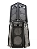 Large audio Tower speakers. On a white background Stock Image