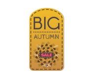 Large autumn discounts Royalty Free Stock Photo