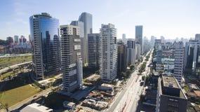 Large avenues, Avenues Dr. Chucri Zaidan. Sao Paulo Brazil, South America stock image